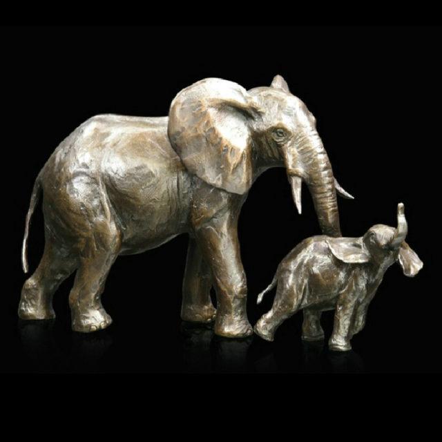 938 Elephant Cow & Calf Mike Simpson