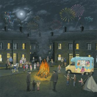 Leigh Lambert Bonfire Lights Canvas