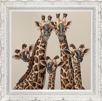 Amy Louise High Five Giraffes