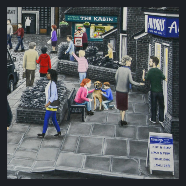 On The Cobbles by Leigh Lambert