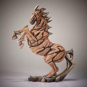 Rearing Horse Palomino Edge Sculpture