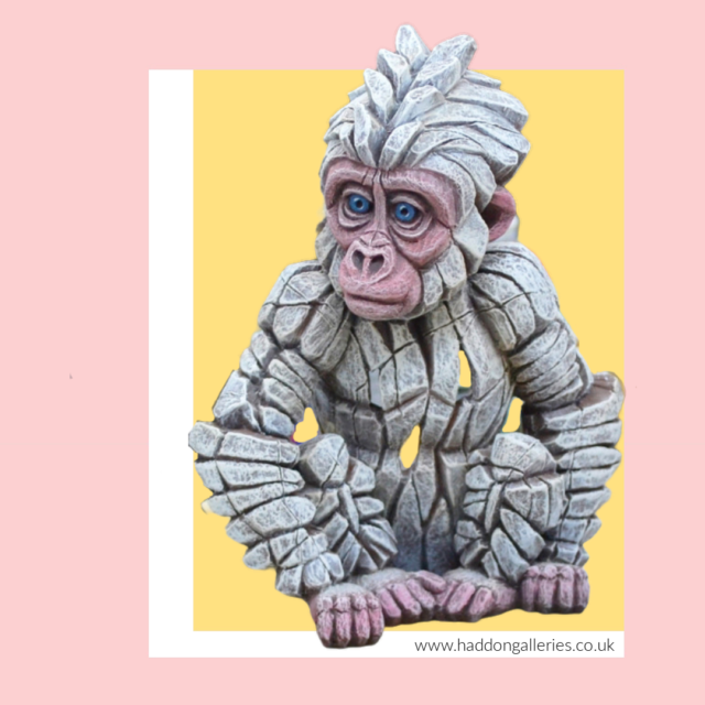 Baby Gorilla Snowflake by Edge Sculpture at Haddon Galleries