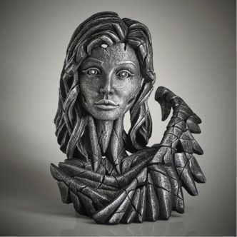 Edge Sculpture Angel Bust Silver Spirit