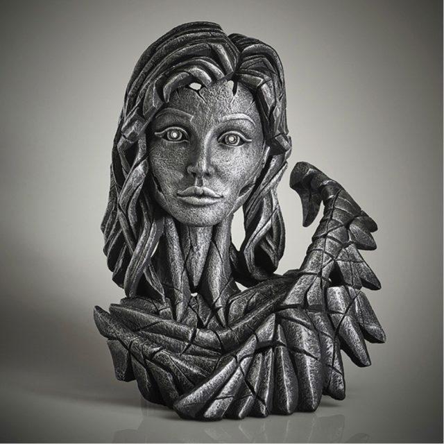 Edge Sculpture Angel Bust Silver Spirit