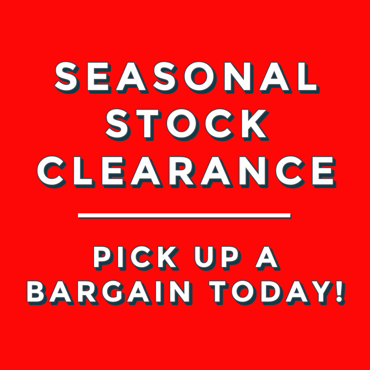 Seasonal Stock Clearance