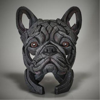 Edge Sculpture French Bulldog Bust - Blue
