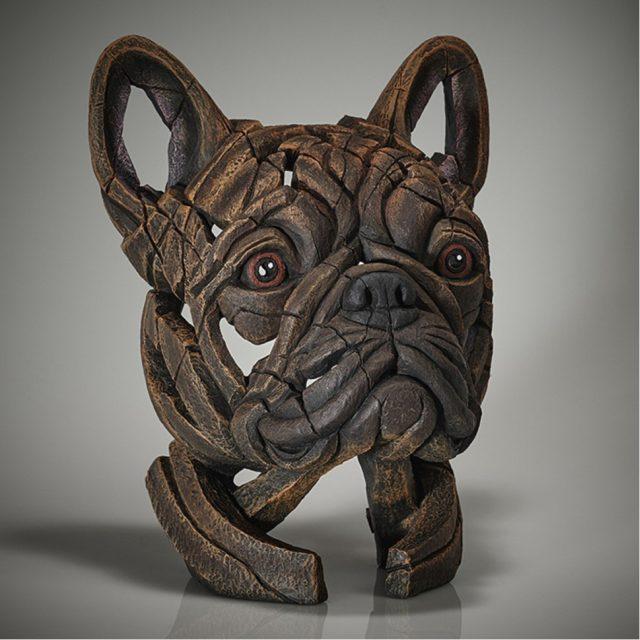 Edge Sculpture French Bulldog Bust - Brindle