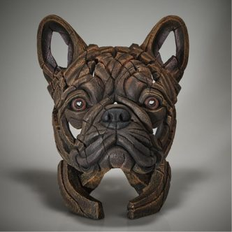 Edge Sculpture French Bulldog Bust - Brindle