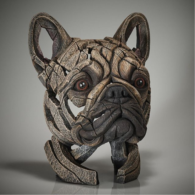Edge Sculpture French Bulldog Bust -Fawn