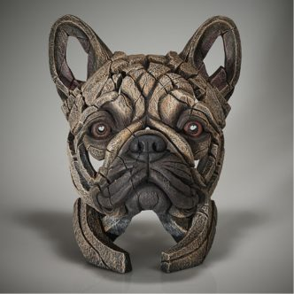 Edge Sculpture French Bulldog Bust -Fawn