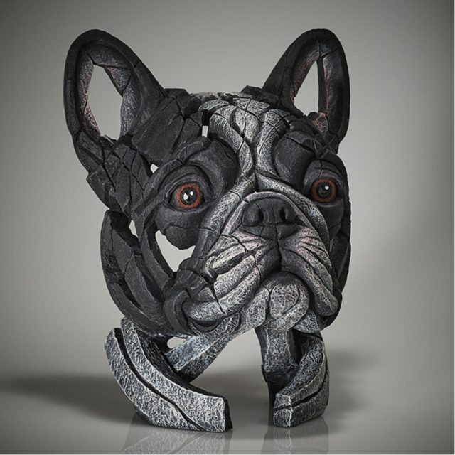 Edge Sculpture French Bulldog Bust - Pied