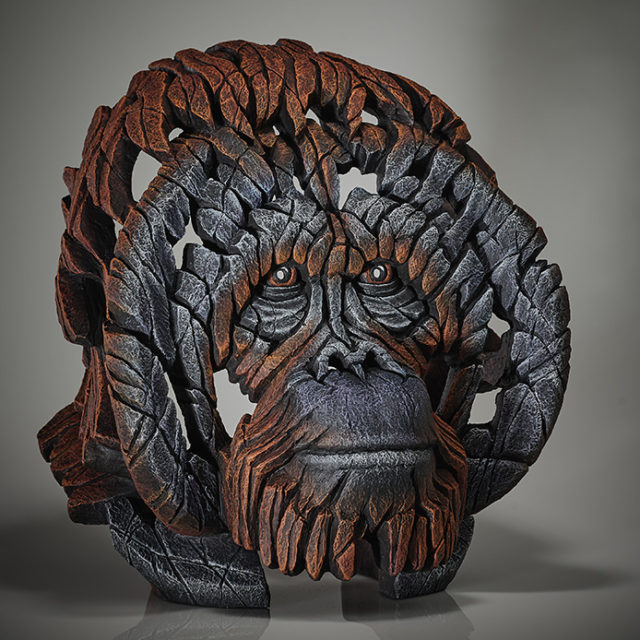 Edge Sculpture Orangutan Bust