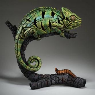 Edge Sculpture Chameleon (Green)-Matt Buckley